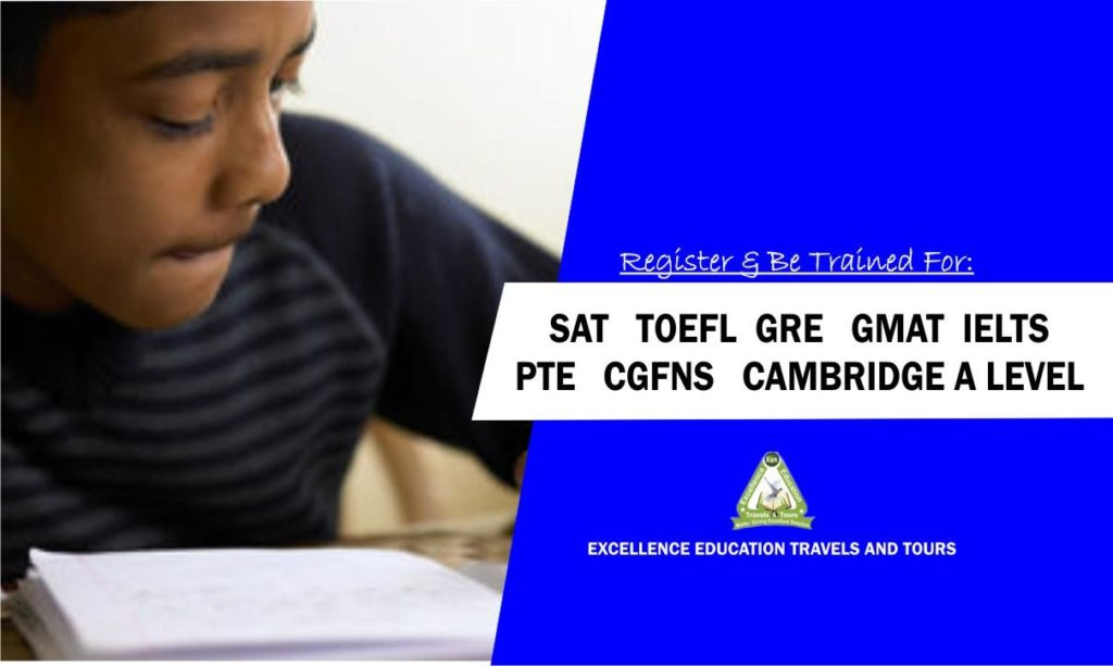 Sat, Gre, Toefl, Pte, Ielts, Cgfns, Gmat, A Level with free study guides